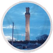 Pilgrim Tower Round Beach Towel