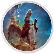 Pillars Of Creation In High Definition Cropped Round Beach Towel