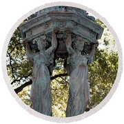Pillars Of New Orleans Round Beach Towel