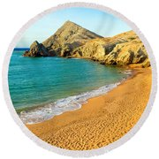 Pilon De Azucar Beach Round Beach Towel