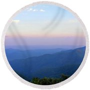 Pilot Mountain In Pisgah National Forest Round Beach Towel