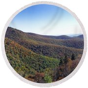 Pilot Mountain Near Balsam Grove Round Beach Towel