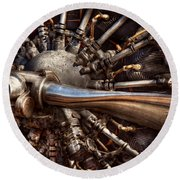 Pilot - Plane - Engines At The Ready  Round Beach Towel by Mike Savad