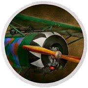 Pilot - Plane - German Ww1 Fighter - Fokker D Viii Round Beach Towel by Mike Savad