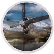 Pilot - Plane - The B-29 Superfortress Round Beach Towel