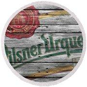 Pilsner Urquell Round Beach Towel