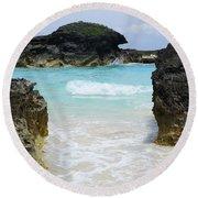 Pinball Round Beach Towel by Luke Moore