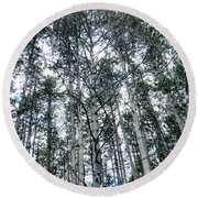 Pine Abstract Round Beach Towel
