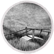 Pine Creek Bridge Round Beach Towel