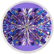 Pineal Opening Round Beach Towel