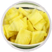 Pineapple Chunks Round Beach Towel