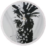 Pineapple Round Beach Towel by Katharina Filus