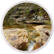 Piney Creek In Southern Illinois Round Beach Towel