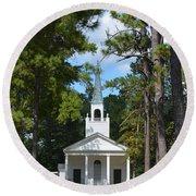 Piney Grove Church Round Beach Towel