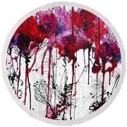 Pink 2 Round Beach Towel