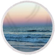 Pink And Blue Sky Round Beach Towel