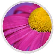 Pink And Purple Smile Round Beach Towel