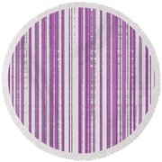 Pink And White Paper Round Beach Towel