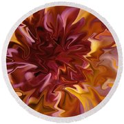 Pink And Yellow Fantasy 1 Round Beach Towel