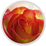 Pink And Yellow Rose - Digital Paint Round Beach Towel