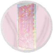 Pink Angel Softly Passing Round Beach Towel