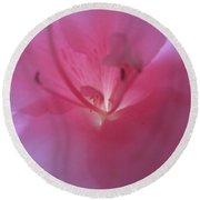 Pink Azalia Abstract 7 Round Beach Towel