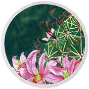 Pink Beauty Round Beach Towel