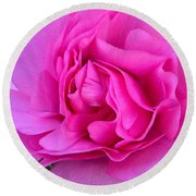 Pink Blossom  Round Beach Towel