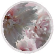 Pink Confection Round Beach Towel