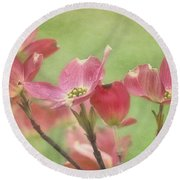 Pink Dogwood Round Beach Towel