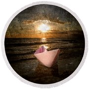 Pink Dreams Round Beach Towel