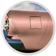 Pink Fins Round Beach Towel by Bill Cannon