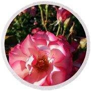 Pink Flaminco Rose 2 Round Beach Towel