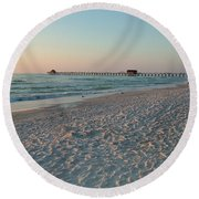 Pink Florida Sands Round Beach Towel