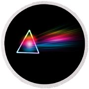 Pink Floyd- Dark Side Of The Moon Round Beach Towel
