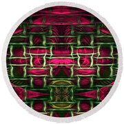 Pink Illusion Round Beach Towel