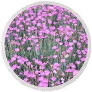 Pink Incarnated Round Beach Towel