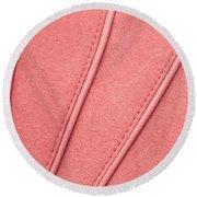 Pink Moleskin Round Beach Towel