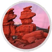 Pink Morning Round Beach Towel