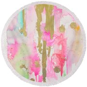 Pink N Glam Round Beach Towel