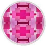 Pink On Pink 2 Round Beach Towel