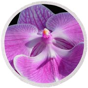Pink Orchid Round Beach Towel