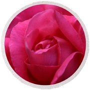 Pink Rose 02 Round Beach Towel