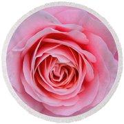 Pink Rose Round Beach Towel