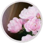 Pink Rose Cluster Round Beach Towel