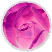 Pink Rose - Photopower 1790 Round Beach Towel