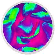 Pink Rose - Photopower 1803 Round Beach Towel