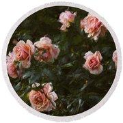 Flowers - Pink Roses Round Beach Towel