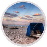 Pink Sands Round Beach Towel