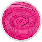 Pink Round Beach Towel